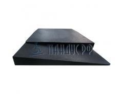 Пандус резиновый РУББЕР 55х900х575 мм (для порогов 55 мм)