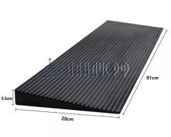 Пандус резиновый РУБИКОН 35х900х200 мм (для порогов 35 мм)